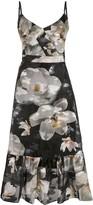 Marchesa floral-print sleeveless dress