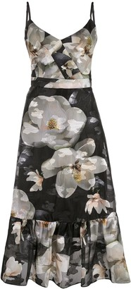 Marchesa floral-print sleeveless dress