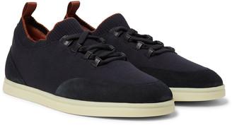 Loro Piana Soho Walk Suede-Trimmed Merino Wool Sneakers