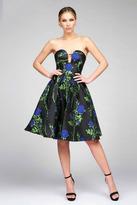 Ieena for Mac Duggal - 25286 Bustier Dress In Blue Rose