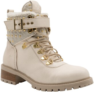 Ross & Snow Wynnie Water Resistant Genuine Shearling Boot