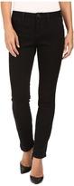 Jag Jeans Petite Petite Portia Straight in Platinum Denim in Black