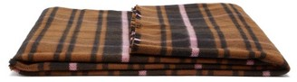 Tekla - Checked Large Merino-wool Blanket - Brown Multi
