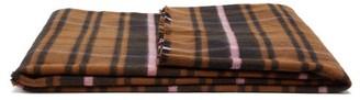 Tekla Fabrics - Checked Large Merino-wool Blanket - Brown Multi