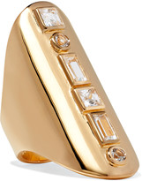 Elizabeth and James Jo gold-tone crystal ring