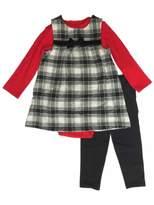 Carter's Infant Girls Black & Red Plaid Outfit Tunic Jumper Bodysuit & Leggings