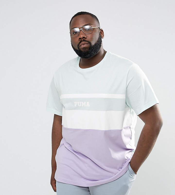 Puma Plus Colour Block T-Shirt In Blue Exclusive To Asos 57659201