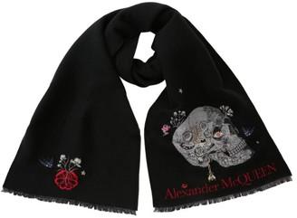 Alexander McQueen Wool-Blend Skull Scarf