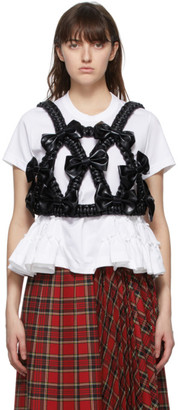 Noir Kei Ninomiya Black Faux-Leather Bow Harness
