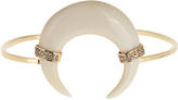 Jacquie Aiche Diamond, bone-horn & yellow-gold cuff