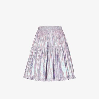 Batsheva Amy metallic tiered skirt