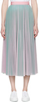 MSGM Pink & Green Tulle Skirt