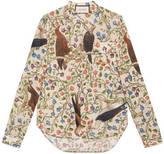 Gucci Birds of Prey print cotton shirt