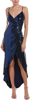 Nicole Miller Women's Stretch Sequin Wrap Gown