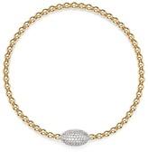 Bloomingdale's Diamond Oval Bead Bracelet in 14K Yellow Gold, .30 ct. t.w.