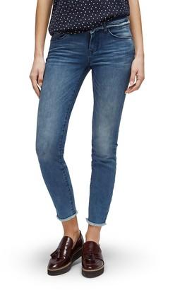 Tom Tailor Women's Skinny Carrie Open Hem Ankle Jeans
