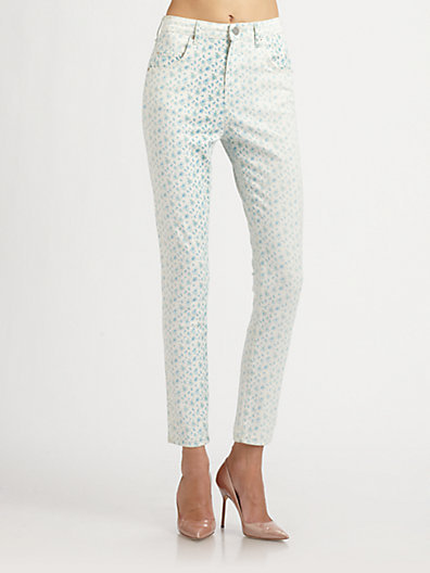 Band Of Outsiders High-Rise Floral Skinny Jeans