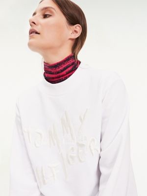 Tommy Hilfiger Logo Embroidery High Neck Sweatshirt