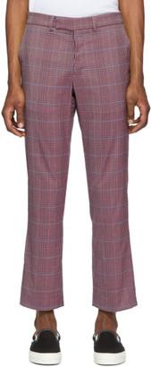 Rochambeau Purple Plaid Pipe Trousers