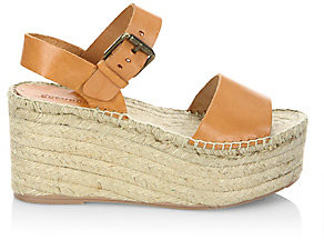 Soludos Women's Minorca Leather High Platform Sandals