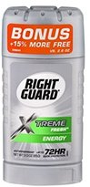 Right Guard Men's antiperspirant, Xtreme fresh,3oz (bonus +15% more free vs 2.6oz).