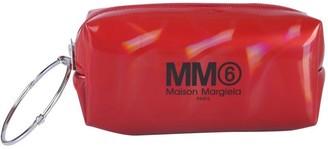 MM6 MAISON MARGIELA Logo Ring Handle Clutch Bag