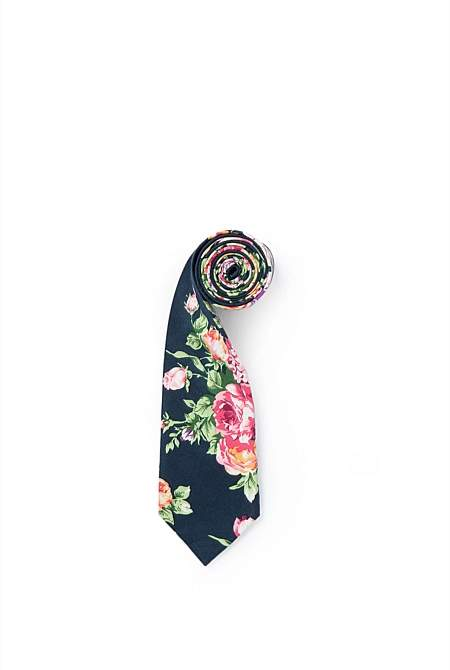 Country Road Large Floral Tie