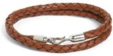 Men's Caputo & Co. Braided Leather Wrap Bracelet