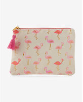 Express slant pink flamingo pouch