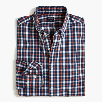 J.Crew Plaid slim flex casual shirt