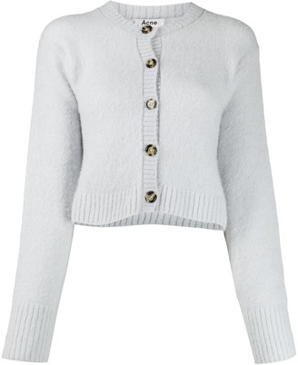 Acne Studios Cropped Crew Neck Cardigan