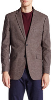 U.S. Polo Assn. Brown Neat Houndstooth Two Button Notch Lapel Modern Fit Suit Separates Sports Coat