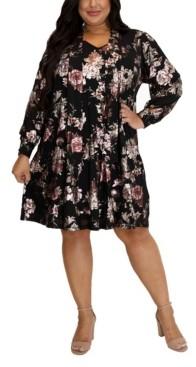 Marée Pour Toi Women's Plus Size Trapeze Dress