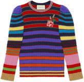 Gucci Multicolor stripe knitted top