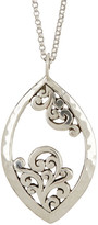 Lois Hill Sterling Silver Large Open Scroll Pendant Necklace