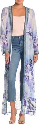 Shahida Parides Floral Long Sleeve Maxi Duster