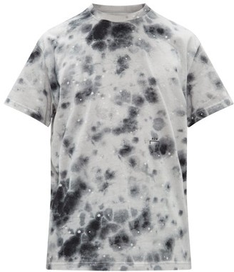 A-Cold-Wall* A Cold Wall* X Diesel Stain-print Cotton-jersey T-shirt - Mens - Grey Multi