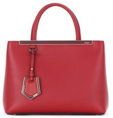 Fendi 2Jours Petite Leather Tote Bag, Ruby Red