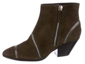 Giuseppe Zanotti Suede Pointed-Toe Ankle Boots
