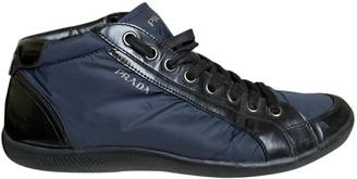 Prada Blue Leather Trainers