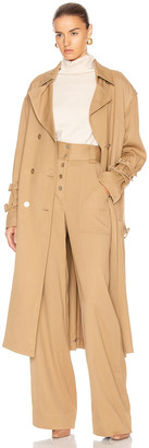 Jonathan Simkhai Structured Utility Coat in Ochre | FWRD