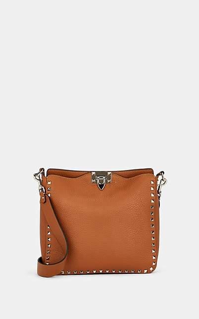 Valentino Women's Rockstud Small Leather Hobo Bag - Brown