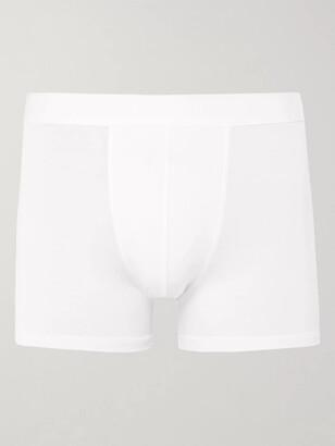 Zimmerli Pureness Stretch Micro Modal Boxer Briefs - Men - White