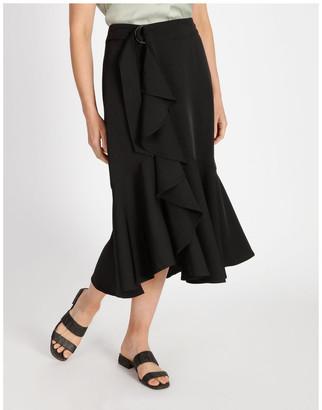 Basque Wrap Ruffle Skirt