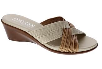 Italian Shoemakers Saylor Criss-Cross Strap Wedge Sandal
