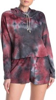 Blue Moon Pink Star Tie-Dye Waffle Thermal Knit Pajama Top