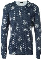 Alexander McQueen tattoo intarsia jumper - men - Silk/Cotton - S