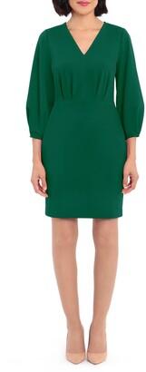 Donna Morgan V-Neck 3/4 Sleeve Dress