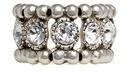 Philippe Audibert 'Solange' engraved Swarovski crystal elastic ring