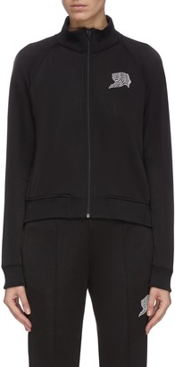 Alexander Wang French terry embroidered track jacket